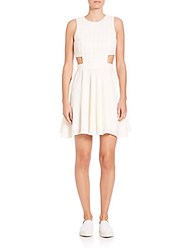Prose And Poetry Iris Side Cutout Circle Dress Ivory