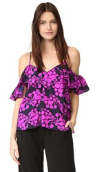 Tanya Taylor Chiara Top Fuchsia Midnight