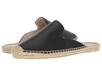 Soludos Tumbled Leather Mule Black Clog Mule Shoes