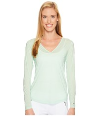 Jamie Sadock Sunsence Lightweight Long Sleeve Layering Under Garment Top With Uvp 30 Mint Julep Women's Long Sleeve Pullover Green