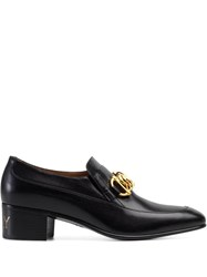Gucci Chain Detail Loafers Black