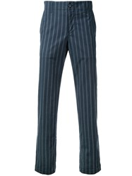 Undercover Striped Trousers Blue