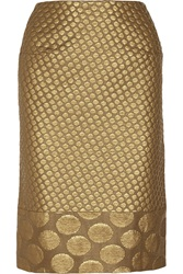 Richard Nicoll Polka Dot Jacquard Pencil Skirt