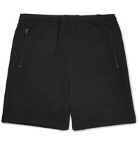 Balenciaga Loopback Cotton Jersey Drawstring Shorts Black