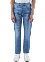 Calvin Klein Landon Straight Leg Washed Weave Jeans Blue