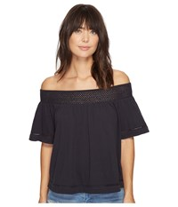 Roxy Hey Tonight Cold Shoulder Top Anthracite Women's Clothing Pewter