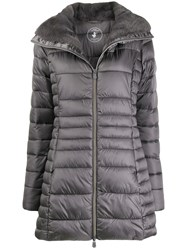 Save The Duck Faux Fur Lined Padded Coat Grey