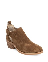 Steve Madden Korbyn Cutout Suede Booties Tobacco