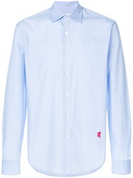 Pringle Of Scotland Poplin Button Shirt Blue