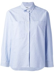 Margaret Howell Boxy Button Up Shirt Women Cotton S Blue