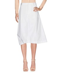 Y 3 4 Length Skirts White