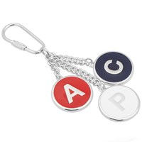 A.P.C. Letters Keyring Silver