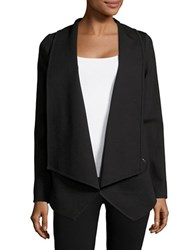 Ivanka Trump Solid Open Front Cardigan Black
