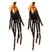 Begada Chic Earrings Copper And Black
