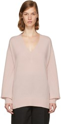 Rag And Bone Pink Cashmere Ace Sweater