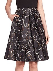 Piazza Sempione Printed A Line Skirt Black Multi