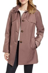 London Fog Removable Hood Rain Coat Adobe