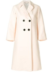 Dorothee Schumacher Double Breasted Coat Nude And Neutrals