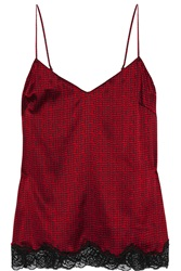 Stella Mccartney Ellie Leaping Printed Stretch Silk Camisole Red
