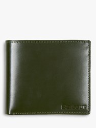 Barbour Keighley High Shine Leather Wallet Green