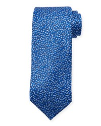 Neiman Marcus Abstract Silk Tie Blue
