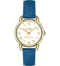 Coach 14502706 Delancey Gold And Leather Watch