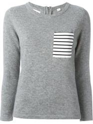 Chinti And Parker Breton Detailing Sweater Grey