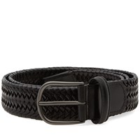 Andersons Anderson's Stretch Woven Leather Belt Black