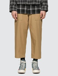 Sacai Fabric Combo Cropped Pants Beige