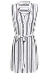 Tart Collections Woman Belted Gauze Mini Dress Dark Gray
