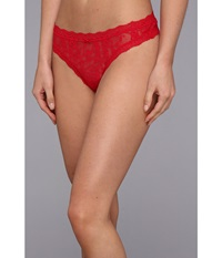 Dkny Intimates Signature Lace Thong 576000 Lacquer Women's Underwear Red