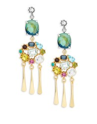 Gerard Yosca Colorful Cluster Drop Earrings Multi
