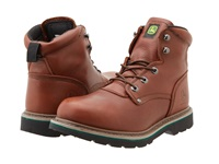 John Deere 6 Lace Up Brown Walnut Men's Work Lace Up Boots