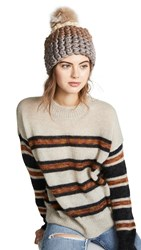 Mischa Lampert Deep Beanie Hat Buttermilk Mocha Mink Blush