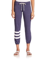 Sundry Striped Drawstring Sweatpants Vintage Deep Sea