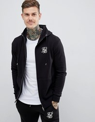 Sik Silk Siksilk Zip Through Hoodie In Black