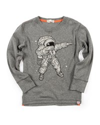 Appaman Long Sleeve Space Dab Tee Size 2 10 Gray