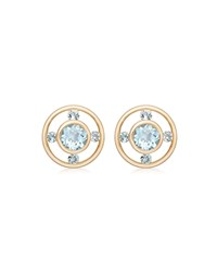 Kiki Mcdonough Forget Me Not 18K Gold And Blue Topaz Stud Earrings