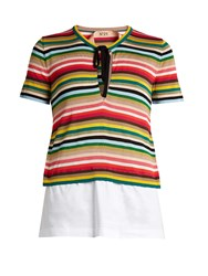 N 21 Multicoloured Striped Knit Top