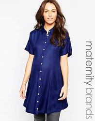 Isabella Oliver Button Down Shirt Dress Navy
