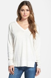 Nic Zoe 'Sightseeing' V Neck Top Beige