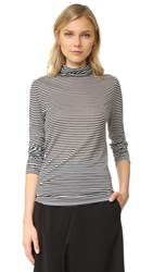 6397 Baggy Turtleneck Neck Tee Black White Stripe