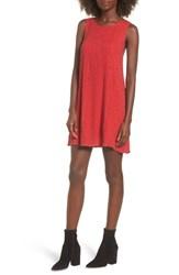 Lost And Wander Women's Rouge Beaded Swing Dress Red