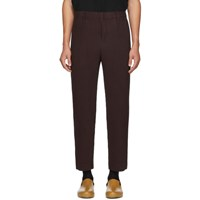 Homme Plisse Issey Miyake Purple Tailored Pleats Trousers