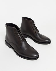 Ben Sherman Lace Up Boot In Brown