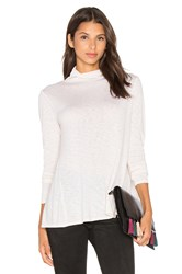 Velvet By Graham And Spencer Waverly Long Sleeve Turtleneck Top Cream