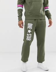 Converse One Star Joggers In Green