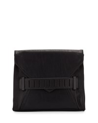 French Connection Harper Envelope Clutch Bag Black