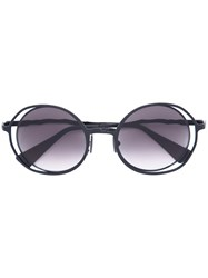 Kuboraum Round Frame Sunglasses Unisex Metal One Size Black