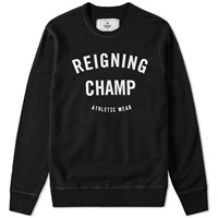 Reigning Champ Gym Logo Crew Sweat Black